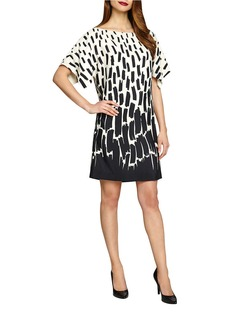 TAHARI ARTHUR S. LEVINE Abstract Print Kimono-Sleeve Dress