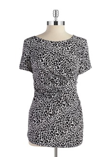 TAHARI ARTHUR S. LEVINE Animal Print Top
