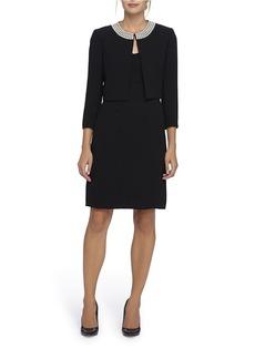 TAHARI ARTHUR S. LEVINE Beaded Jacket and Dress Set