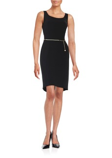 TAHARI ARTHUR S. LEVINE Belted Sheath Dress
