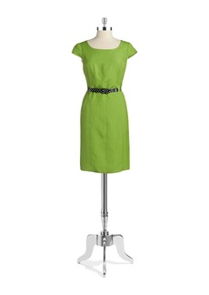 TAHARI ARTHUR S. LEVINE Cap Sleeved Sheath Dress