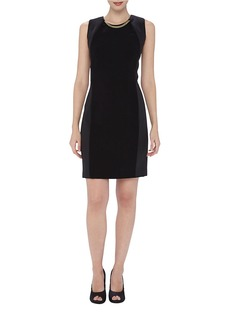 TAHARI ARTHUR S. LEVINE Chain Link-Accented Sheath Dress