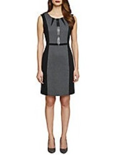 TAHARI ARTHUR S. LEVINE Contrast Sheath Dress