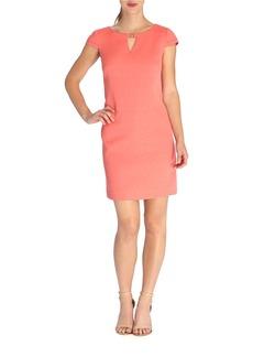 TAHARI ARTHUR S. LEVINE Diamond Jacquard Shift Dress