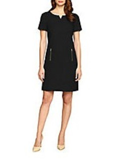 TAHARI ARTHUR S. LEVINE Dropped-Waist Sheath Dress