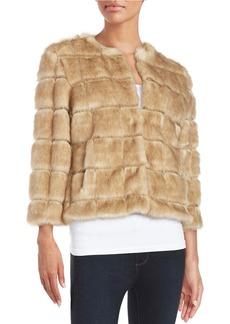TAHARI ARTHUR S. LEVINE Faux Fur Bolero Jacket