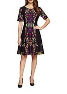 TAHARI ARTHUR S. LEVINE Floral Print Dress