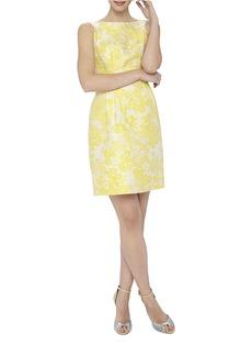 TAHARI ARTHUR S. LEVINE Floral Print Sheath Dress