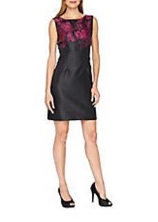 TAHARI ARTHUR S. LEVINE Floral Top Sleeveless Dress