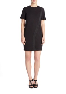 TAHARI ARTHUR S. LEVINE Kevin Embossed Stripe Shift Dress