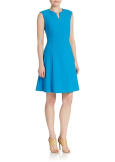 TAHARI ARTHUR S. LEVINE Keyhole Fit and Flare Dress