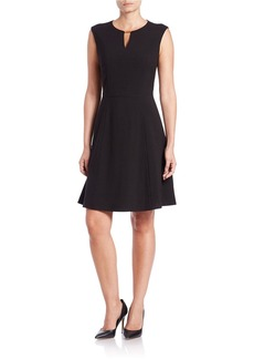 TAHARI ARTHUR S. LEVINE Keyhole Fit-and-Flare Dress