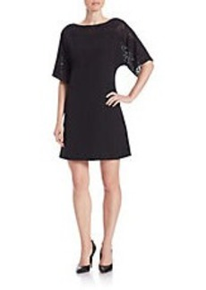 TAHARI ARTHUR S. LEVINE Lace Accent Shift Dress