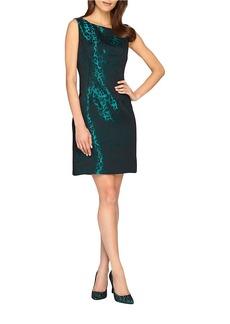 TAHARI ARTHUR S. LEVINE Leopard Patterned Shift Dress