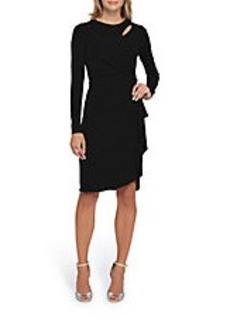 TAHARI ARTHUR S. LEVINE Long Sleeve Tiered Dress