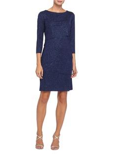 TAHARI ARTHUR S. LEVINE Metallic Bandage Dress