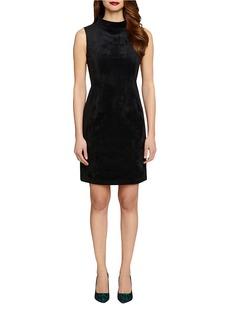 TAHARI ARTHUR S. LEVINE Mock-Neck Sheath Dress