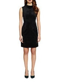 TAHARI ARTHUR S. LEVINE Mock-Neck Sheath Dress