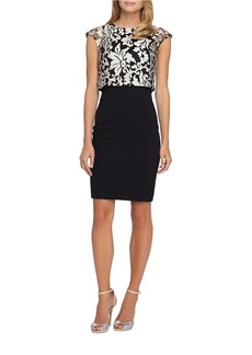 TAHARI ARTHUR S. LEVINE Popover Sheath Dress