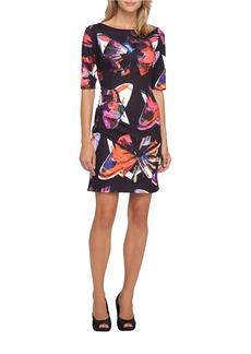 TAHARI ARTHUR S. LEVINE Printed Scuba Dress