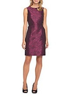 TAHARI ARTHUR S. LEVINE Rose Embossed Dress
