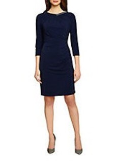 TAHARI ARTHUR S. LEVINE Ruched Stretch Jersey Dress