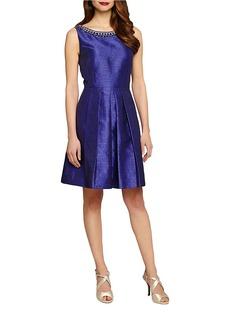 TAHARI ARTHUR S. LEVINE Sleeveless Fit-and-Flare Dress