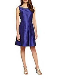 TAHARI ARTHUR S. LEVINE Sleeveless Fit-and-Flare Dress