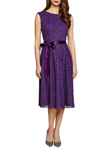 TAHARI ARTHUR S. LEVINE Sleeveless Lace Fit-and-Flare Dress