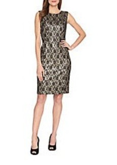 TAHARI ARTHUR S. LEVINE Sleeveless Lace Sheath Dress