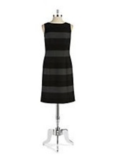 TAHARI ARTHUR S. LEVINE Striped Sheath Dress