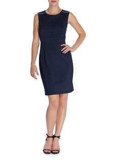 TAHARI ARTHUR S. LEVINE Studded-Shoulder Shift Dress