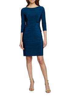 TAHARI ARTHUR S. LEVINE Tiered Sheath Dress