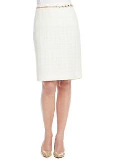 Tahari ASL® Belted Tweed Skirt