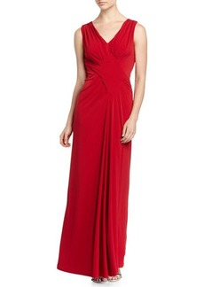Tahari ASL Benny Sleeveless Jersey Gown