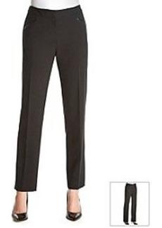 Tahari ASL® Bi-Stretch Faux Leather Detail Pants