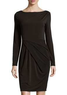 Tahari Casey Draped Sheath Dress