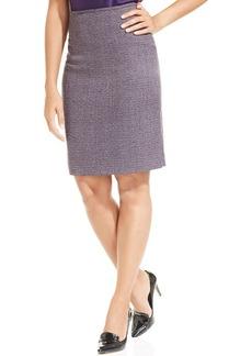 Tahari ASL Checkered Pencil Skirt