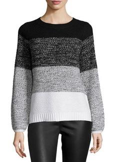Tahari Claudia Long-Sleeve Colorblock Knit Sweater