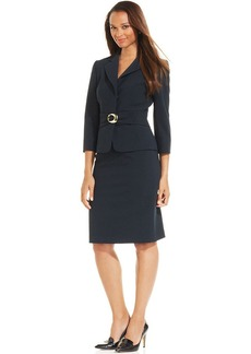 Tahari ASL Crepe Buckle Skirt Suit