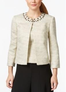 Tahari Asl Embellished Jacket and Shell Top