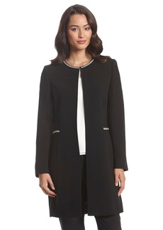 Tahari ASL® Embellished Long Jacket
