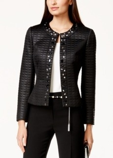 Tahari Asl Embellished Quilted Jacket