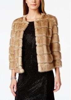 Tahari Asl Faux-Fur Open Jacket