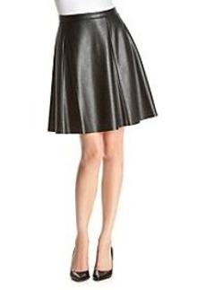 Tahari ASL® Faux Leather Flounce Skirt