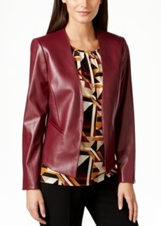 Tahari Asl Faux-Leather Jacket