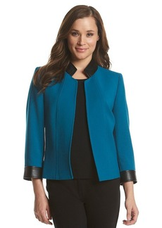 Tahari ASL® Faux Leather Trim Jacket