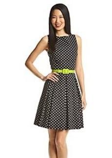 Tahari ASL® Fit And Flare Dot Dress