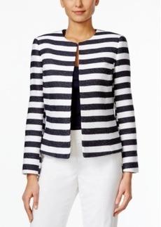 Tahari Asl Horizontal-Stripe Jacket