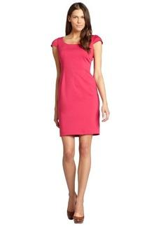 Tahari ASL hot pink cap sleeve dress